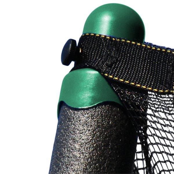Trampoline verte et ronde de 8 pi pour arrière-cour par Skywalker Trampolines, enceinte incluse