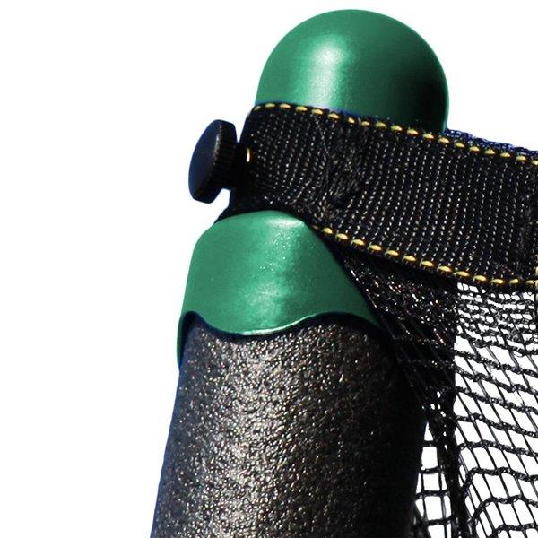 Trampoline verte et ovale de 15 pi pour arrière-cour par Skywalker Trampolines, enceinte incluse
