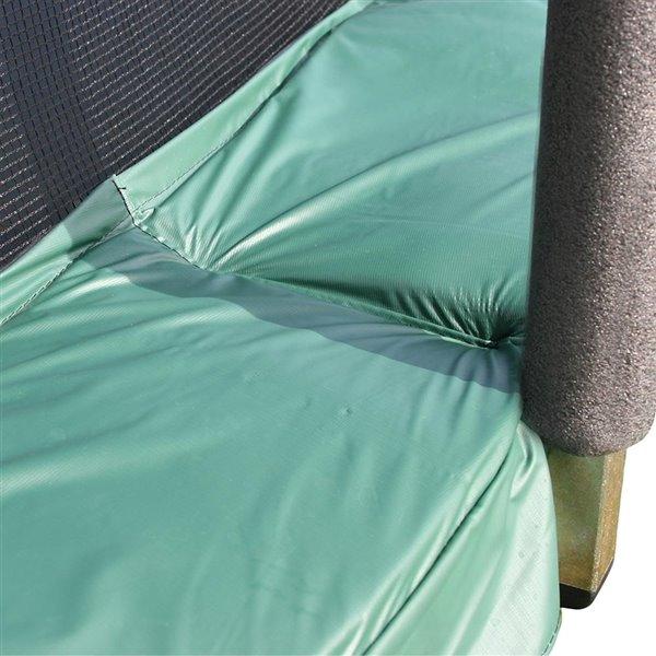 Trampoline verte et ronde de 15 pi pour arrière-cour par Skywalker Trampolines, enceinte incluse