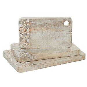 Grayson Lane 3-Pack 18.5-in x 11.8-in Wood Cutting Board
