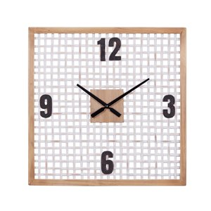 Grayson Lane 23.5-in x 23.5-in White Analogue Square Wall Standard Clock