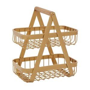 Grayson Lane 2-Tier Metal Basket Stand