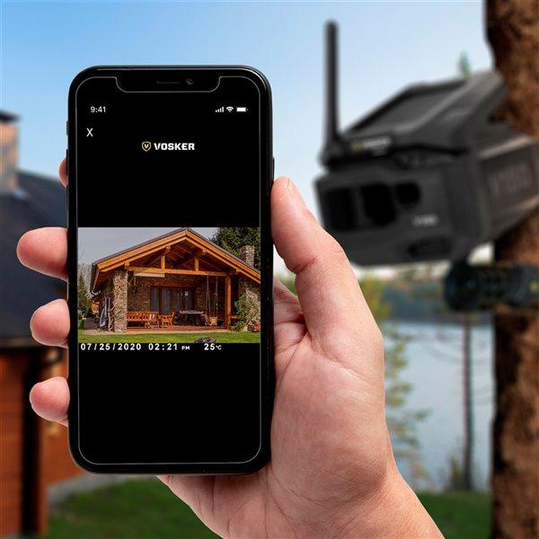 Caméra de sécurité V150-CA extérieure sans fil à énergie solaire par Vosker