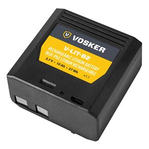 Vosker V-LIT-B2 Rechargeable Lithium Security Camera Battery