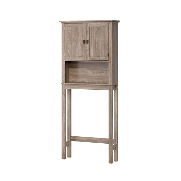 Riverridge Home 8-in x 27-in x 64-in Light Woodgrain 3-Tier Composite Space Saver Cabinet