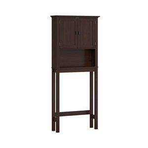 Riverridge Home 8-in x 27-in x 64-in Dark Woodgrain 3-Tier Composite Space Saver Cabinet