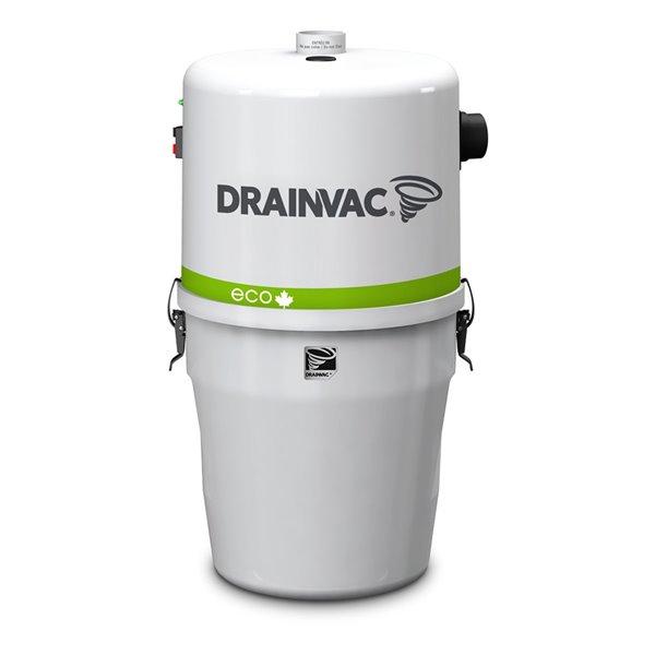 Aspirateur central blanc à usage résidentiel par Drainvac, 17 L