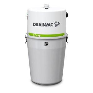 Aspirateur central blanc à usage résidentiel par Drainvac, 41 L