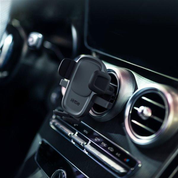 Support d'évent de voiture réglable Easy One Touch 5 noir pour téléphones portables universels par iOttie