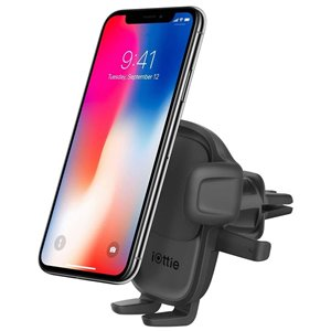 iOttie Easy One Touch 5 Black Adjustable Car Air Vent Mount for Universal Cell Phones