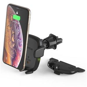 Support de voiture réglable noir Auto Sense pour téléphones portables universels par iOttie