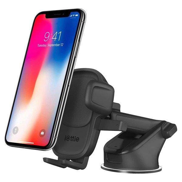 Support de voiture réglable noir Easy One Touch 5 pour téléphones portables universels par iOttie