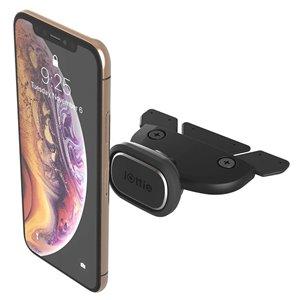Support de fente de CD de voiture réglable iTap 2 magnétique noir pour téléphones portables universels par iOttie