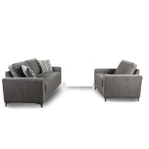 HomeTrend Hudson Graphite Grey Living Room Set (2-Piece)