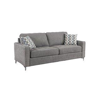 Canapé Hudson moderne en polyester gris graphite, par HomeTrend