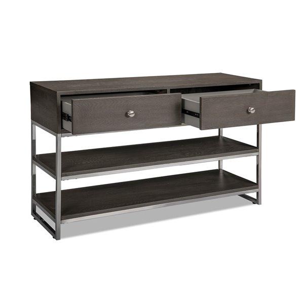 Table d'appoint grise moderne Harmony, par HomeTrend