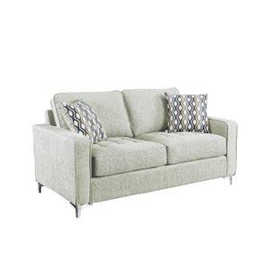 HomeTrend Hudson Modern Platinum Grey Polyester Loveseat