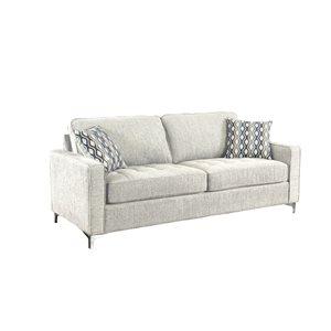 HomeTrend Hudson Modern Platinum Grey Polyester Sofa