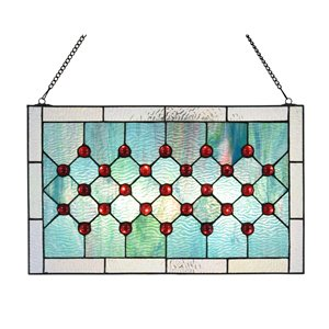 Fine Art Lighting  11.8-in H X 19.3-in W Abstract Glass Window Panel
