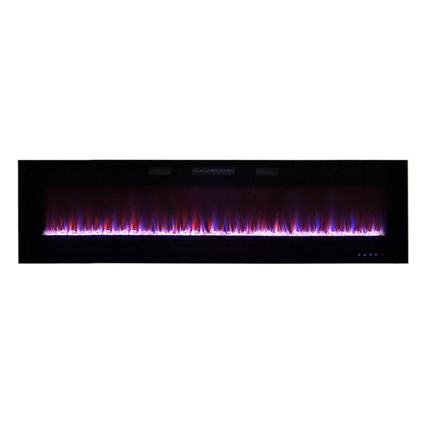 Foyer électrique à air forcé par Paramount, 72 po, noir
