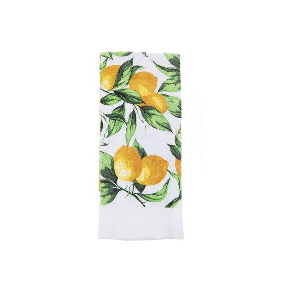 Ensemble de 4 serviettes de main avec motifs de branches de citron par IH Casa Decor