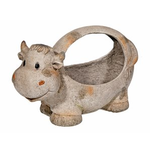 IH Casa Decor MGO Garden Cow Figurine Planter