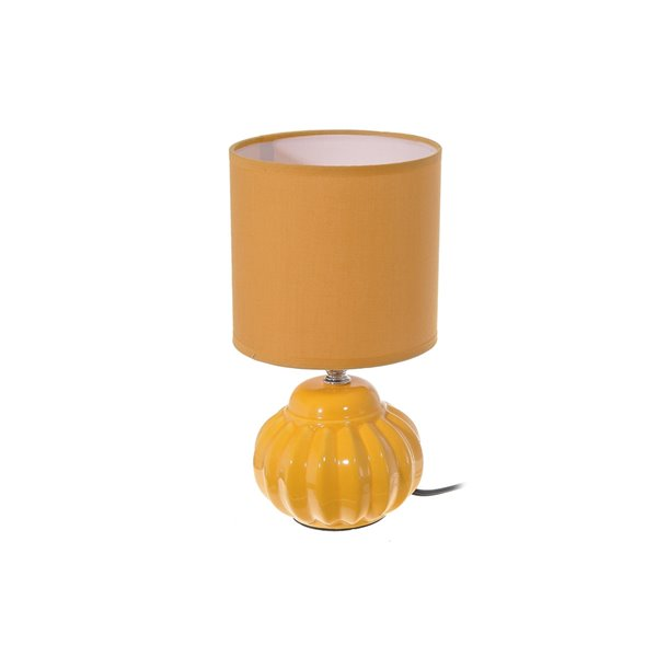 Lampe de table Joy avec abat-jour jaune, 5 po, interrupteur marche/arrêt de IH Casa Decor