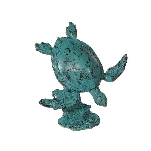 Figurine de jardin en polyrésine en forme de tortue de mer qui plonge de IH Casa Decor (6,7 po x 4,15 po)