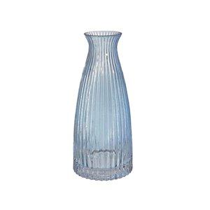 Vase à goulot en verre bleu clair 5,5 po x 12 po IH Casa Decor