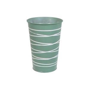 IH Casa Decor Mint Green Metal Round Tall Planter
