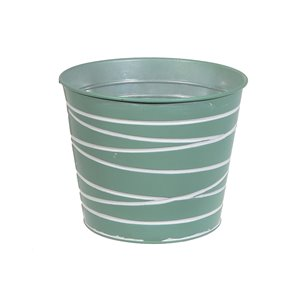 IH Casa Decor Mint Green Metal Round Planter