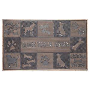 IH Casa Decor 30-in W x 18-in L Black Wipe Your Paws Rectangular Indoor Door mat