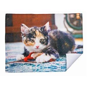 Tapis de séchage en microfibre avec motifs de chats qui jouent par IH Casa Decor - Paquet de 2