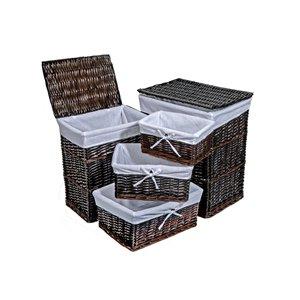 Organisateur autoportant brun en osier 22 po x 14,2 po x 18,1 po de IH Casa Decor
