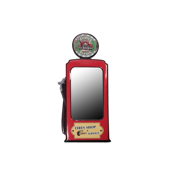 Miroir mural encadré rouge par IH Casa Decor de 31 po x 15,6 po