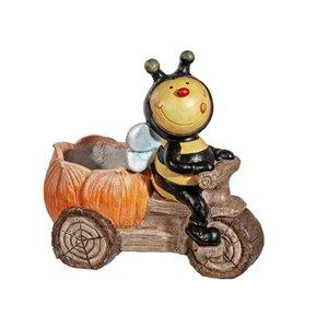 IH Casa Decor MGO Garden Honey Bee on Scooter Figurine Planter