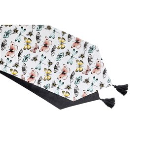 IH Casa Decor Butterfly Cotton Table Runner 54-in  - Set of 1