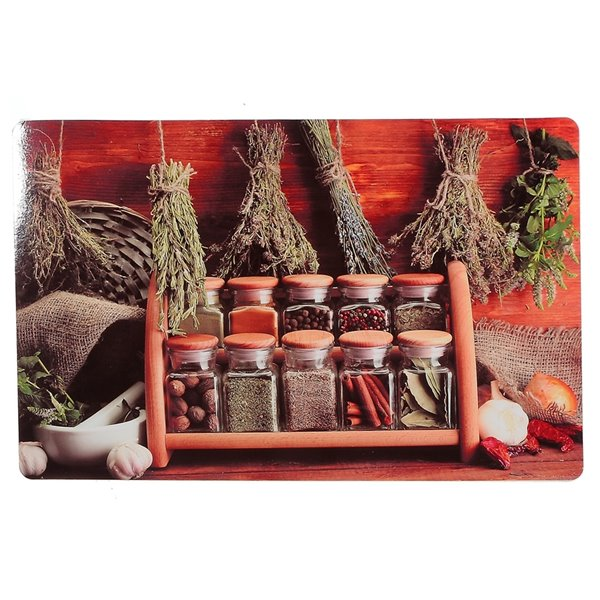IH Casa Decor Herbs and Spices Plastic Placemat - Set of 12