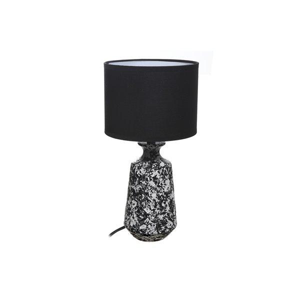 Lampe de table Lincoln avec abat-jour noir, 5 po, interrupteur marche/arrêt de IH Casa Decor