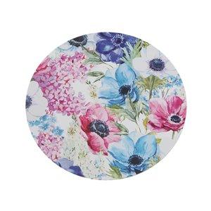 IH Casa Decor Spring Floral Round Hard Cork Backing Placemat - Set of 12