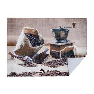 Tapis de séchage en microfibre avec motifs de moulin à café par IH Casa Decor - Paquet de 2