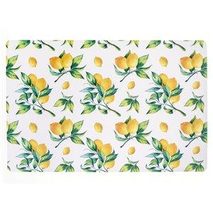 IH Casa Decor Lemon Branches PVC Placemat - Set of 12