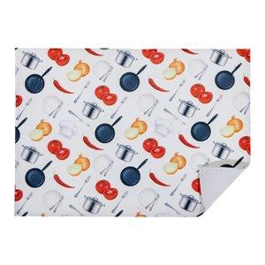 Tapis de séchage en microfibre avec motifs de repas maison par IH Casa Decor - Paquet de 2