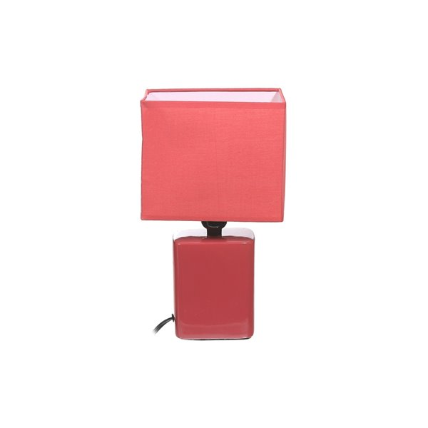Lampe de table Converse avec abat-jour corail, 5 po, interrupteur marche/arrêt de IH Casa Decor