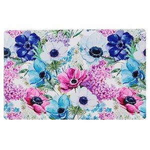 Ensemble de 12 napperons en plastique avec motifs de fleurs multicolores de IH Casa Decor