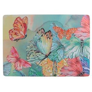 IH Casa Decor Butterflies Hard Cork Backing Placemat - Set of 12