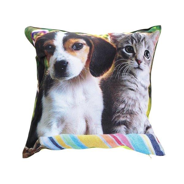 Cousins décoratifs imperméables pour l'extérieur avec dessins de chats et de chiens, par IH Casa Decor, paquet de 2