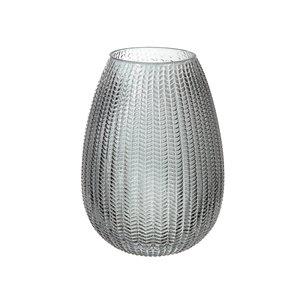 Vase en verre charbon en forme d'œuf de IH Casa Decor