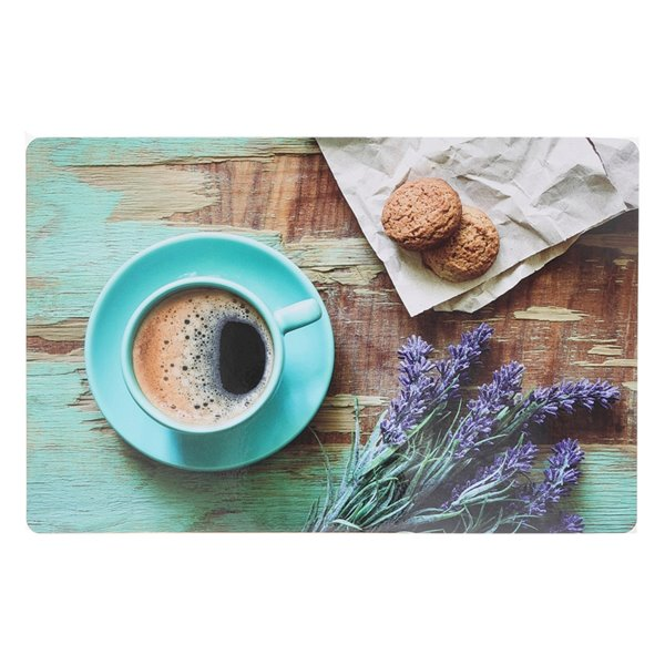 IH Casa Decor Rustic Coffee Date Plastic Placemat - Set of 12