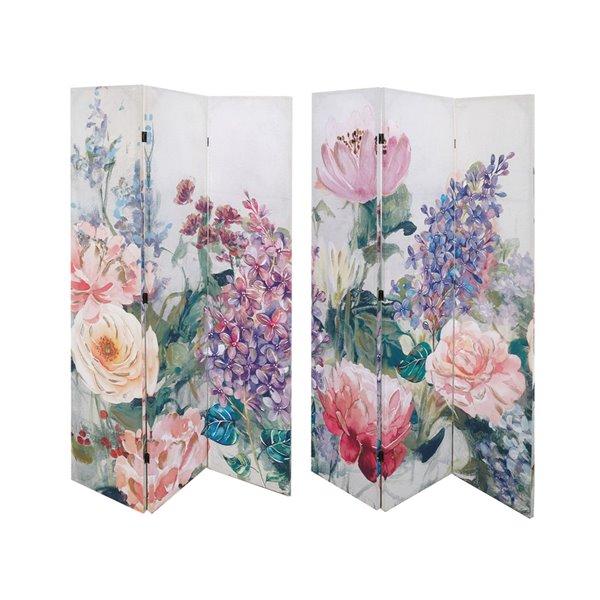 Paravent pliant en bambou rose à 3 panneaux par IH Casa Decor de style contemporain/moderne